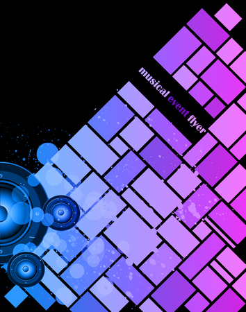 flayers: Colorful Urban Music Background for Disco flayers. Ideal for posters, flayers and event. Illustration