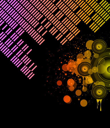flayer: Disco club flayer with colorful elements. Ideal for poster and music background.