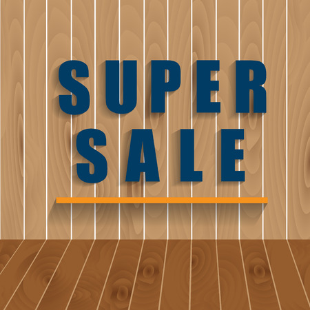 abatement: Super Sale background for your promotional posters, advertising shopping, discount banners. Illustration