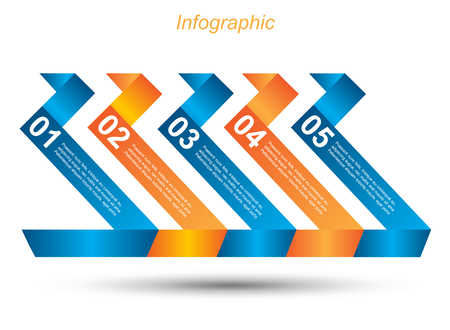 Infographic design template with paper tags Idea to display ranking and statistics.