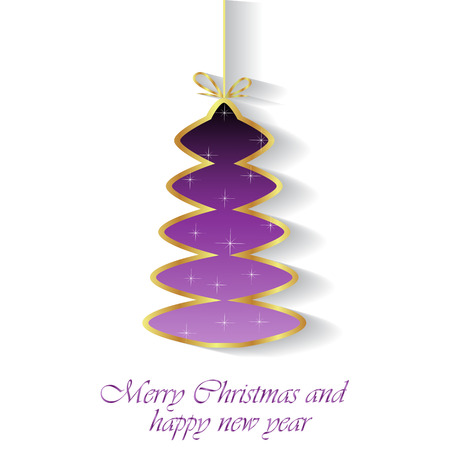 Merry Christmas and Happy New Year background for your invitations, greetings cards.