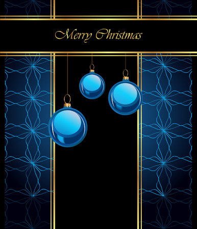 new years eve dinner: Merry Christmas background for your invitations, festive posters, greetings cards. Illustration