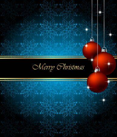 flayers: Elegant Classic Christmas Background. Idea for celebration or invitation flayers.