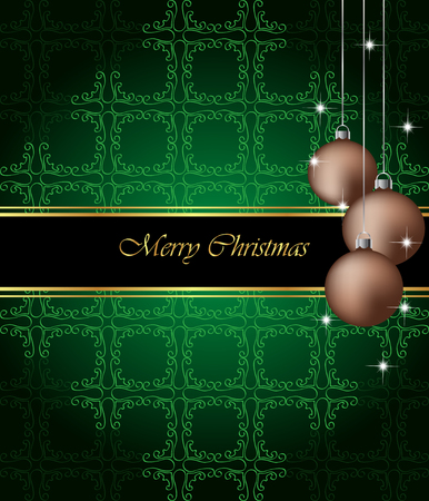 new years eve dinner: Elegant Classic Christmas Background. Idea for celebration or invitation flayers.