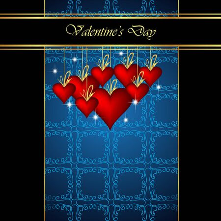flayer: Elegant classic valentines day background. Idea for important invitation, poster or flayer. Illustration