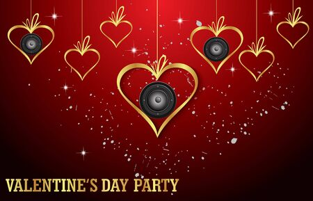 flayer: Happy Valentines day invitation on the dinner, background for flayer. Illustration