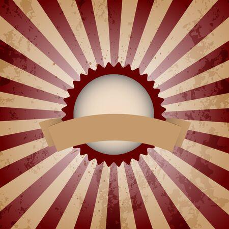 Vintage Sunburst Background Illustration