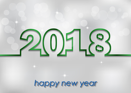 happy new year text: 2018 Happy New Year and Christmas for invitation on the dinner, background for flayer.