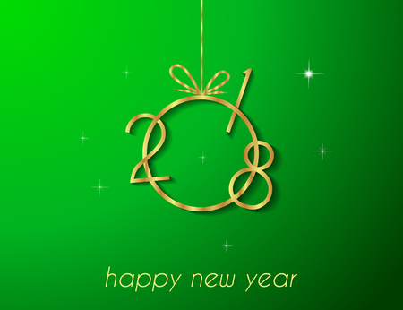 happy new year text: 2018 Happy New Year and Christmas for invitation on the dinner.