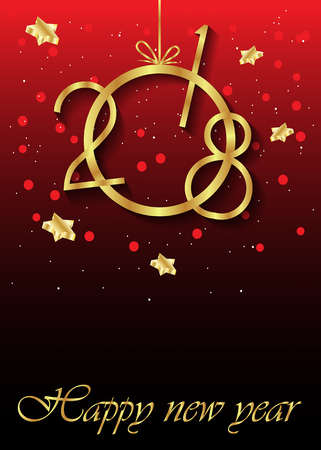 festivity: 2018 Happy new year background for your flayer and greeting card. Illustration