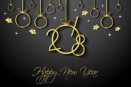 2018 Happy New Year Background for your Seasonal Flayer and Greetings Card.