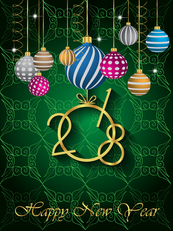 flayer: 2018 Happy New Year Background for your Seasonal Flayer and Greetings Card.