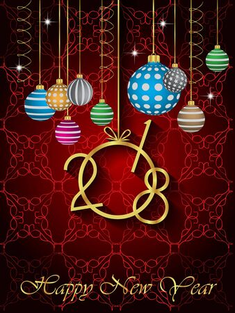 new years: 2018 Happy New Year Background for your Seasonal Flayer and Greetings Card.