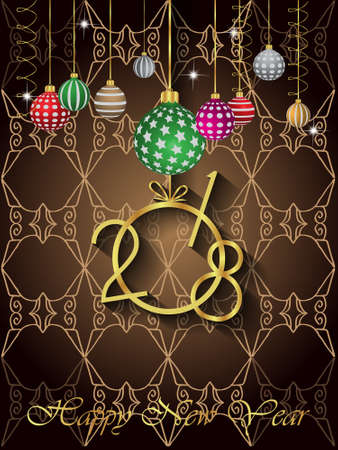 christmas backdrop: 2018 Happy New Year Background for your Seasonal Flayer and Greetings Card.