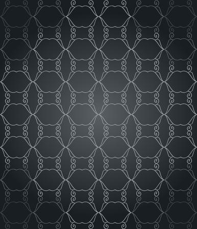 어두운 색조 원활한 패턴과 벽지.