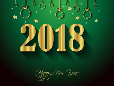 2018 Happy New Year background for your invitations, festive posters, greetings cards.