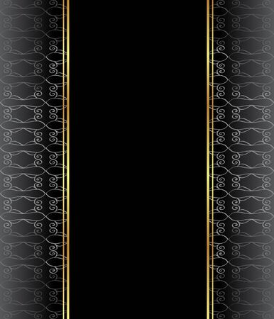 Elegant wallpaper with golden fine decoration and place for your text.  Layout with space for classic invitation, flayer or cards.