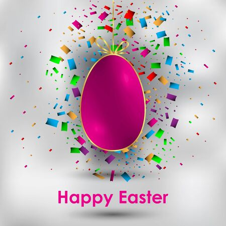 Happy Easter background for your invitations, festive posters, greetings cards. 矢量图像