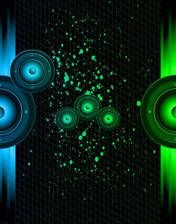 Disco club flayer with colorful elements. Ideal for poster and music background.