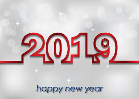 2019 Happy New Year background. Illustration
