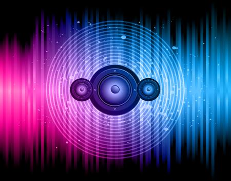 Disco club flayer z kolorowymi elementami. Idealny na plakat i tło muzyczne. Ilustracje wektorowe
