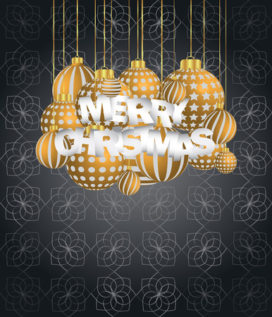 2019 Merry Christmas seasonal background for your invitations, festive posters, greetings cards. Vector Illustration