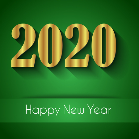 2020 Happy New Year background for your seasonal invitations, festive posters, greetings cards. Ilustração