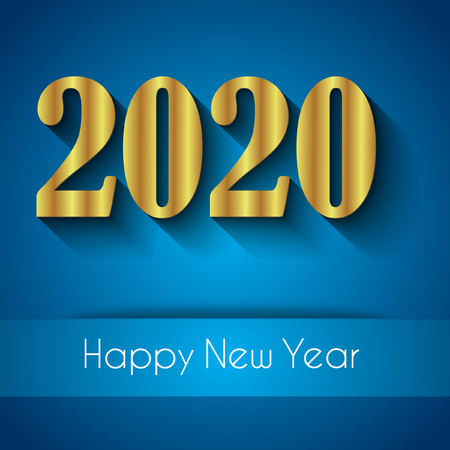 2020 Happy New Year background for your seasonal invitations, festive posters, greetings cards. Banco de Imagens - 121863590
