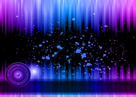 Volantino discoteca con elementi colorati. Ideale per poster e sottofondo musicale.