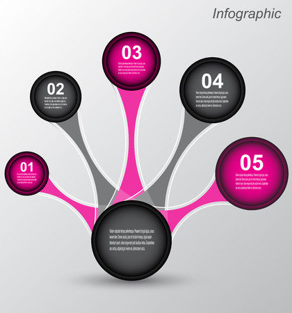 Info-graphic design template. Idea to display ranking and statistics.