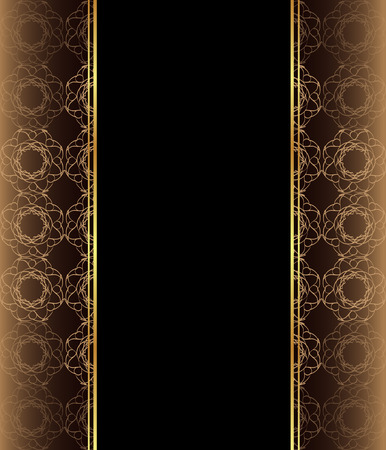 Elegant wallpaper with golden fine decoration and place for your text.