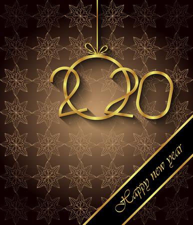 2020 Happy New Year background for your seasonal invitations, festive posters, greetings cards. Ilustrace