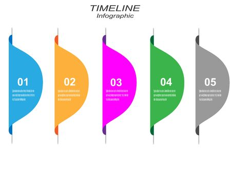 Time line to display your data with Info-graphic elements. Idea to display information, ranking and statistics.