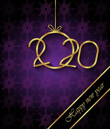2020 Happy New Year background for your seasonal invitations, festive posters, greetings cards. Illustration