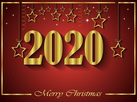 2020 Merry Christmas background for your invitations, festive posters, greetings cards.