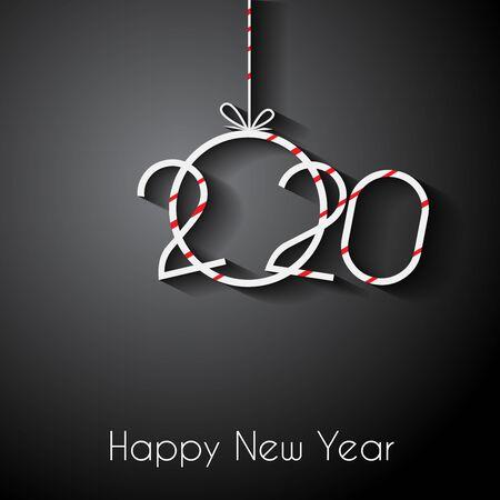 2020 Feliz año nuevo para sus invitaciones de temporada, carteles festivos, tarjetas de felicitación.
