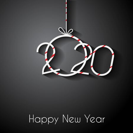 2020 Happy New Year for your seasonal invitations, festive posters, greetings cards.