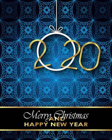 2020 Merry Christmas background for your seasonal invitations, festival posters, greetings cards.