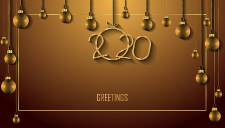 2020 Happy New Year background for your seasonal invitations, greetings cards or christmas.