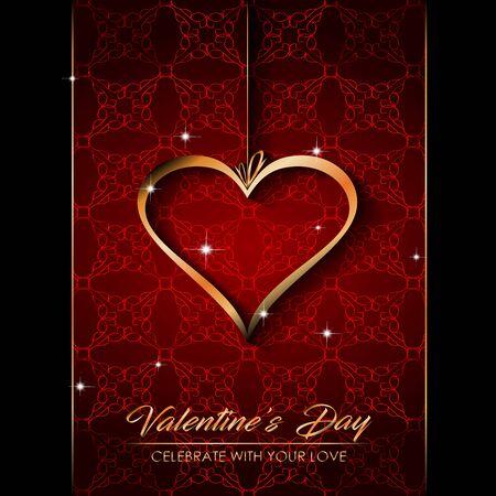 Happy Valentine's day for your seasonal invitations,  postcard, card. Standard-Bild - 138733104