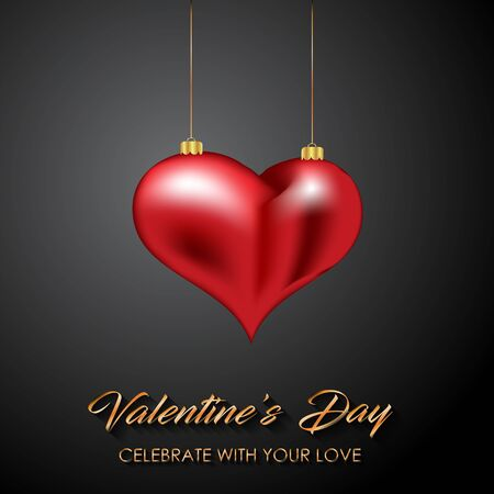 Happy Valentine's day for your seasonal invitations,  postcard, card. Standard-Bild - 138732658