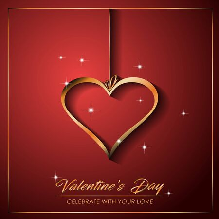 Happy Valentine's day for your seasonal invitations,  postcard, card. Standard-Bild - 138733037