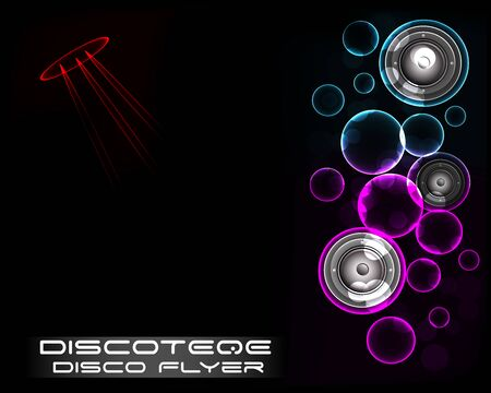 Disco Club Flyer Template for your Music Night Event.