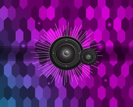 Disco Club Flyer Template for your Music Night Event. Ilustração Vetorial