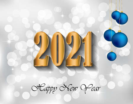 2021 Happy New Year background for your seasonal invitations, festive posters, greetings cards.
