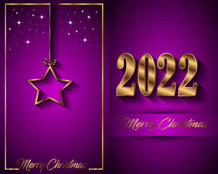2022 Merry Christmas background for your seasonal invitations, festival posters, greetings cards. Illustration