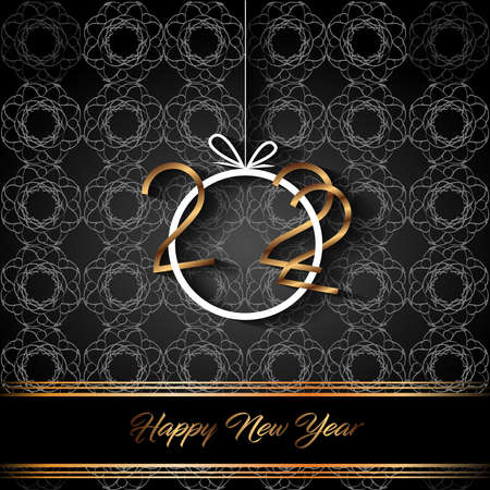 2022 Happy New Year background for your seasonal invitations, festive posters, greetings cards. Illustration