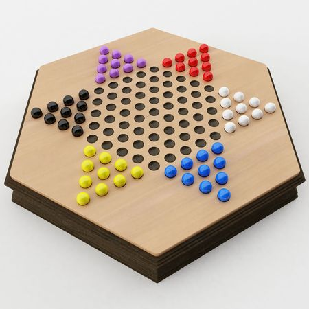 hexagram: 3d rendering of a Chinese Checkers Game