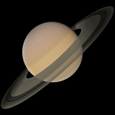 3d rendering of Saturn