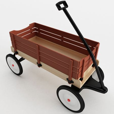 3d rendering of a Toy Wagon photo